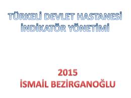 2015 indikatör yönetimi