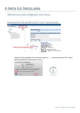 BYS`de E-imza Kullanımı - Hacettepe Üniversitesi Bilgi İşlem Daire