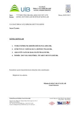 genel duyurular muhtelif konular 04.03.2015