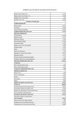 Bağın Omcalı Değeri (TL) 6.157 Bağın Çıplak Arazi Değeri (TL