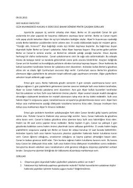 Ceza Muhakemesi Hukuku II Pratik Çalışması
