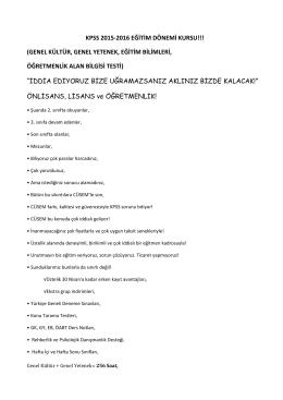 kpss 2015-2016 eğitim dönemi kursu!!!