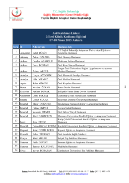Asil Katılımcı Listesi 3.İleri Klinik Kodlama Eğitimi 07