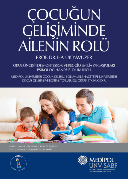 13 MAR Çocuğun Gelişiminde Ailenin Rolü Konferansı
