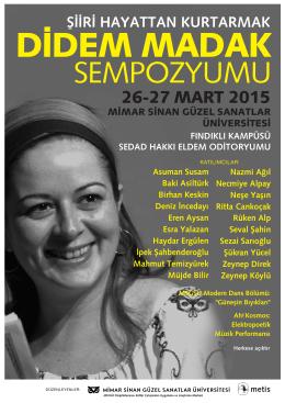 didem madak - Mimar Sinan Güzel Sanatlar Üniversitesi