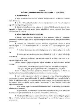 EK-1 - Hâkimler ve Savcılar Yüksek Kurulu