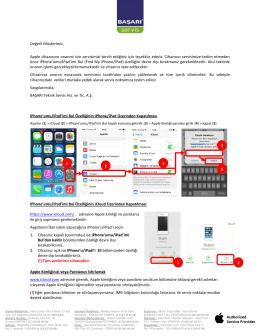Apple Bilgilendirme - Başarı Teknik Servis
