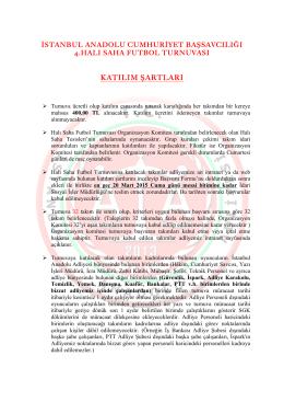 Turnuva Katılım Koşulları - İstanbul Anadolu Adliyesi