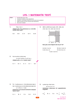LYS Deneme Kitapçığı 1A Matematik YENİ.qxp