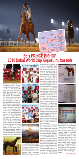 İğdiş PRINCE BISHOP 2015 Dubai World Cup Koşusu