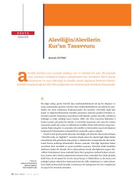 Aleviliğin/Alevilerin. Kur`an Tasavvuru (pdf)