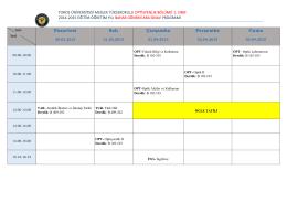Optisyenlik - Toros Üniversitesi