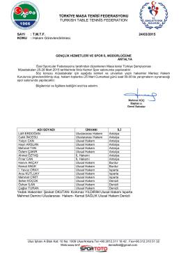 türkiye masa tenisi federasyonu turkısh table tennġs federatıon