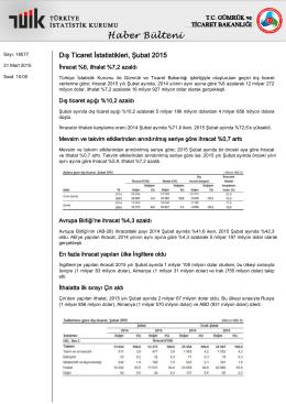 Dış Ticaret İstatistikleri-(Şubat 2015-31.03.2015)