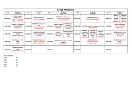 2014-2015 Bahar 1. vize sınav programı