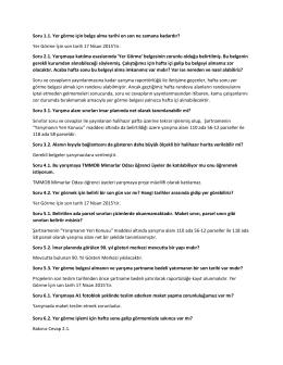 Soru ve Cevaplar - Çanakkale İl Özel İdaresi