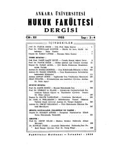 PDF - Ankara Üniversitesi Hukuk Fakültesi Dergisi