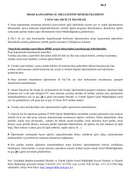 Proje kapsamında imzalanan prot - Manisa Milli Eğitim Müdürlüğü