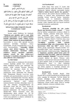 Müslüman Yüreğin İnsani Yansıması: Vakıf