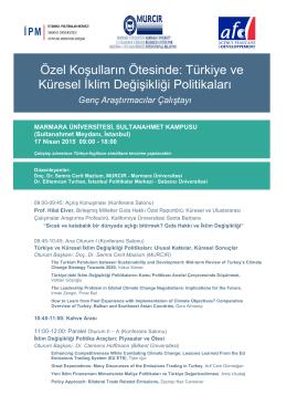 Türkiye ve Küresel İklim Değişikliği Politikaları - ipc