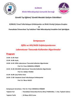 Toplantı Duyurusu - Klinik Mikrobiyoloji Uzmanlık Derneği