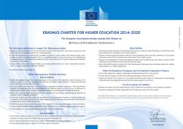 Erasmus Charter for Higher Education