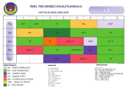 1 - B - TED Denizli Koleji