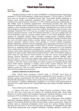 T.C. SERİK 1. İCRA DAİRESİ