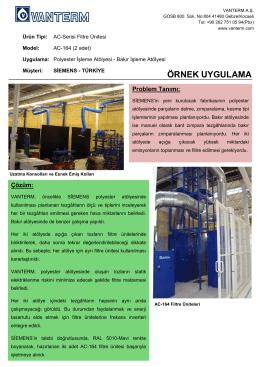 Uygulama Örneği No-2 Polyester ve bakır işleme atölyesi