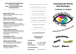 IKW Bad Säckingen 2014 - Interkulturelle Woche
