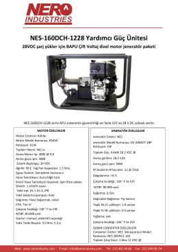 NES-160DCH-1228 Yardımcı Güç Ünitesi