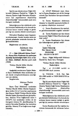 TBMM B : 90 İlgi (b) - Türkiye Büyük Millet Meclisi
