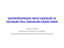 Gastroözofageal Reflü Hastalığı ve Solunum Yolu Sorunları İlişkisi
