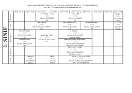 sinema ve televizyon bölümü - Afyon Kocatepe Üniversitesi