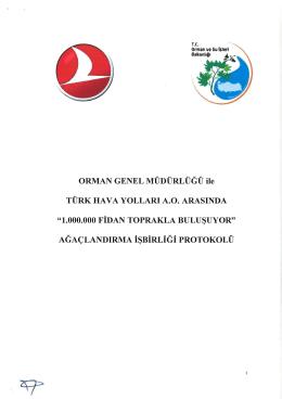 Orman Genel Müdürlüğü İle Türk Hava Yolları Anonim Ortaklığı