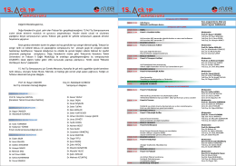 Bilimsel Program - Acil Tıp Uzmanları Derneği
