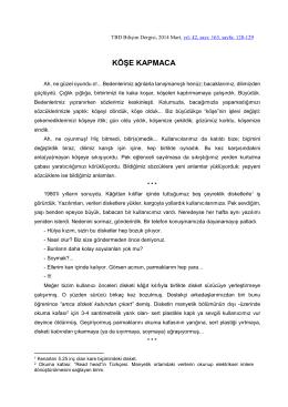 KÖŞE KAPMACA - Türkiye Bilişim Derneği