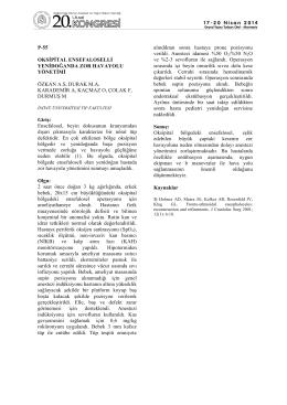 p-55 oksipital ensefaloselli yenidoğanda zor havayolu yönetimi