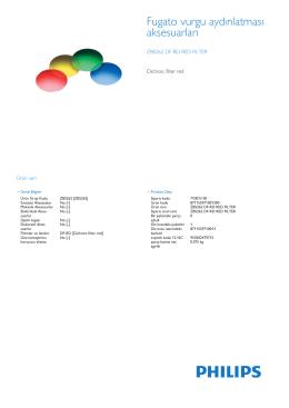 Product Leaflet: Renk filtresi Koyu kırmızı, yeşil, mavi ve sarı