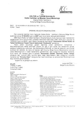 T.C. Adana Kültür Varlıklarını Koruma Bölge Kurulu Müdürlüğü