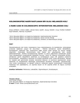 melanozis koli - Bozyaka Eğitim ve Araştırma Hastanesi
