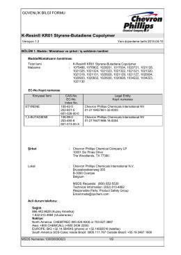 K-Resin® KR01 Styrene-Butadiene Copolymer