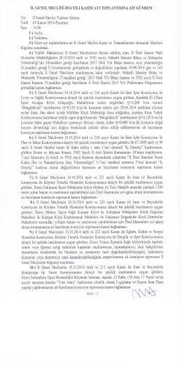 2014 kasım ayı meclis gündemi