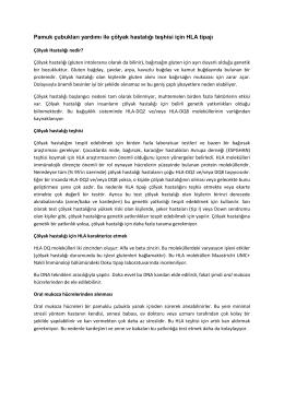 Pamuk çubukları yardımı ile çölyak hastalığı teşhisi için HLA tipajı