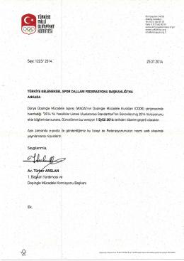 dünya dopingle mücadele ajansı (wada) (yasaklılar listesi)