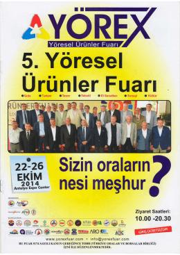 YÖREX Fuar Tanıtım Kataloğu - Erzincan Ticaret ve Sanayi Odası