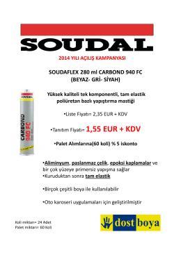 SOUDAFLEX 280 ml CARBOND 940 FC (BEYAZ- GRİ