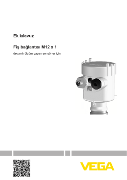Kullanim Kilavuzu - Fiş bağlantısı M12 x 1 - devamlı ölçüm