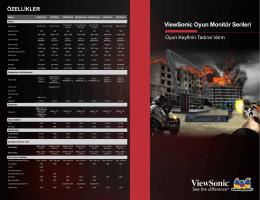 ViewSonic Oyun Monitör Serileri