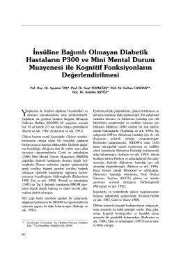 80-83 niddm ve kognisyon_ggy.1.qxd